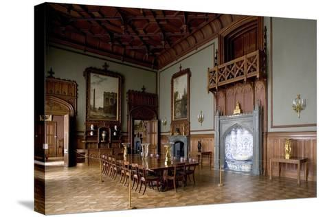 Tudor Style Dining Room in Vorontsov Palace--Stretched Canvas Print
