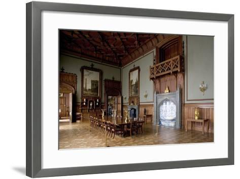 Tudor Style Dining Room in Vorontsov Palace--Framed Art Print