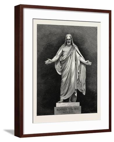 Thorwaldsen's Statue of the Saviour. Karl Albert Bertel Thorvaldsen 1770 1844 Was a Danish Sculptor--Framed Art Print