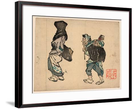 Tori No Machi No Kaimono--Framed Art Print