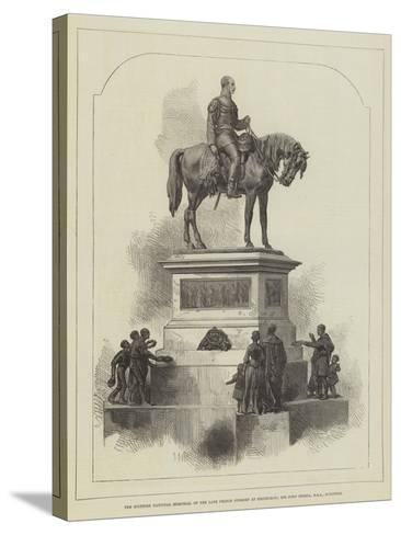 The Scottish National Memorial of the Late Prince Consort at Edinburgh; Sir John Steell--Stretched Canvas Print