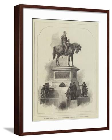 The Scottish National Memorial of the Late Prince Consort at Edinburgh; Sir John Steell--Framed Art Print