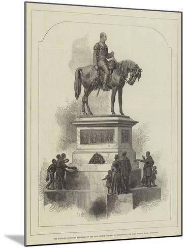 The Scottish National Memorial of the Late Prince Consort at Edinburgh; Sir John Steell--Mounted Giclee Print
