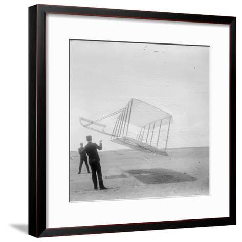 Wilbur Wright at Left and Orville Wright at Right--Framed Art Print