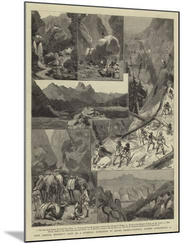 With General Kennedy's Staff on a Scientific Expedition to Survey Takht-I-Suleiman--Mounted Giclee Print