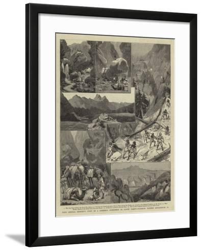 With General Kennedy's Staff on a Scientific Expedition to Survey Takht-I-Suleiman--Framed Art Print