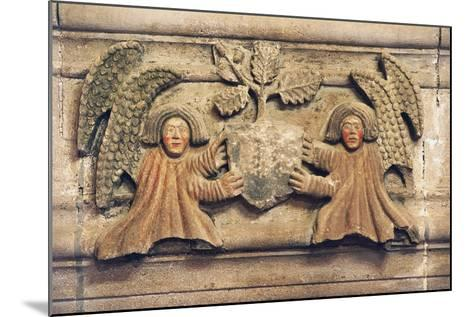 Two Angels Holding Coat of Arms--Mounted Photographic Print
