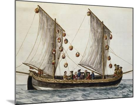 Venetian Boat Decked Out for Feast of Redeemer--Mounted Giclee Print