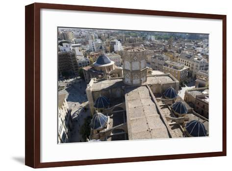 View of Metropolitan Cathedral-Basilica of Assumption of Our Lady of Valencia (13th-14th Century) f--Framed Art Print