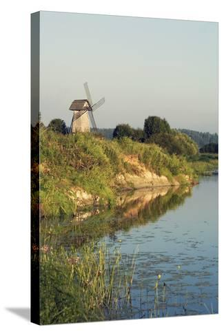 Windmill on Banks of Sorot River--Stretched Canvas Print