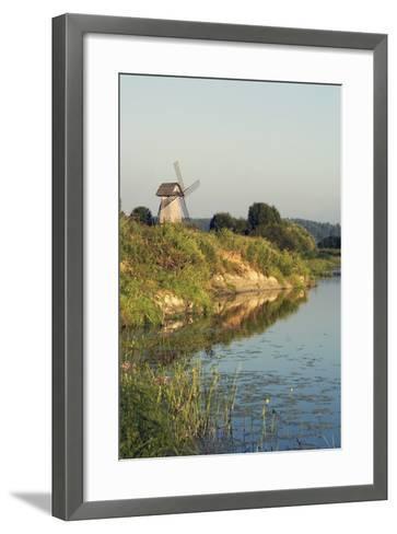 Windmill on Banks of Sorot River--Framed Art Print