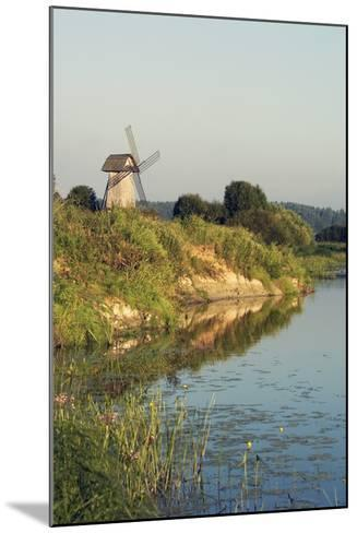 Windmill on Banks of Sorot River--Mounted Giclee Print