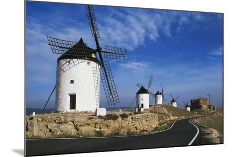 Windmills Along Road of Don Quixote--Mounted Giclee Print