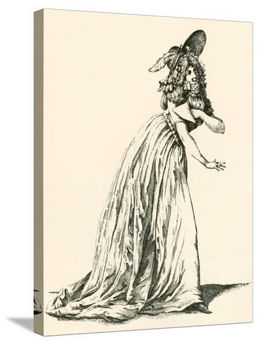 Women's Fashion During the French Revolution. from Illustrierte Sittengeschichte Vom Mittelalter Bi--Stretched Canvas Print