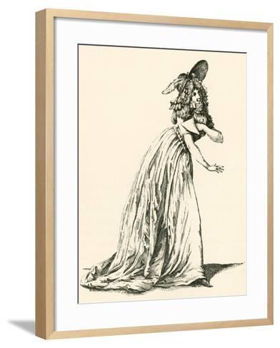 Women's Fashion During the French Revolution. from Illustrierte Sittengeschichte Vom Mittelalter Bi--Framed Art Print