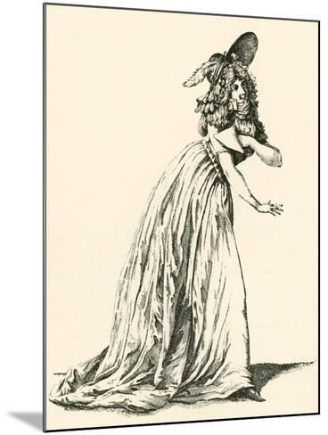 Women's Fashion During the French Revolution. from Illustrierte Sittengeschichte Vom Mittelalter Bi--Mounted Giclee Print