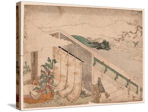 Ume Ni Uguisu O Nagameru Kanjo--Stretched Canvas Print