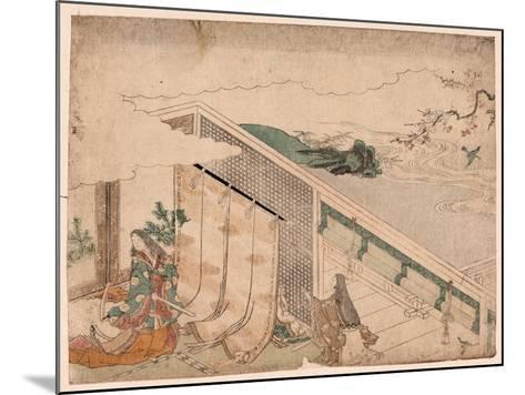 Ume Ni Uguisu O Nagameru Kanjo--Mounted Giclee Print