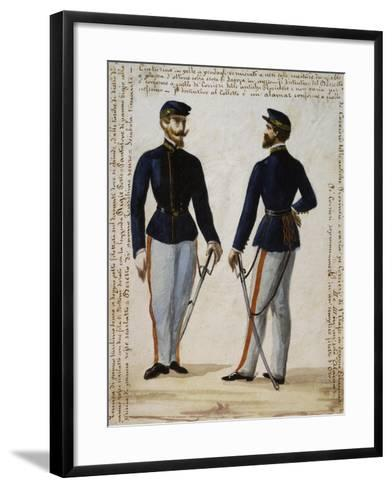 Uniform of Courier from Regional Operations Department of Naples Postal Service--Framed Art Print