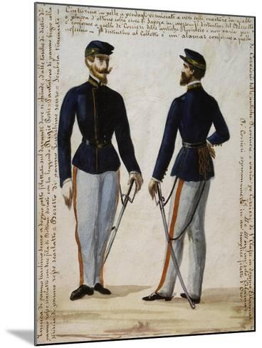 Uniform of Courier from Regional Operations Department of Naples Postal Service--Mounted Giclee Print