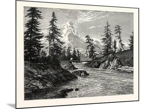 View of The Gorge--Mounted Giclee Print