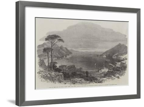 View of the Gulf of Spezia--Framed Art Print