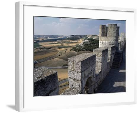 View from Walls of Penafiel Castle--Framed Art Print