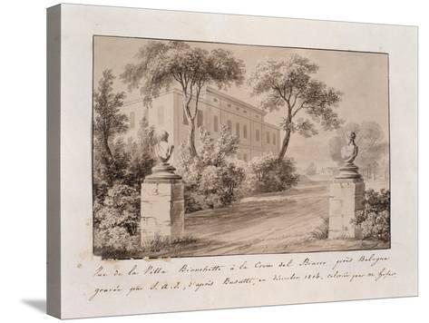 View of Villa Bianchetti in Croce Del Biacco Near Bologna--Stretched Canvas Print