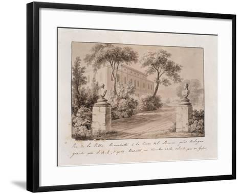 View of Villa Bianchetti in Croce Del Biacco Near Bologna--Framed Art Print