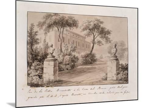 View of Villa Bianchetti in Croce Del Biacco Near Bologna--Mounted Giclee Print
