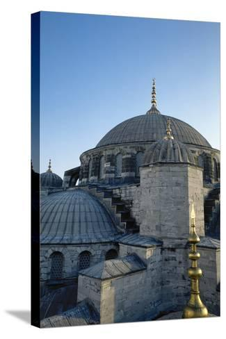 Turkey. Istanbul. Sultan Ahmed Mosque or Blue Mosque.1609-1616. Architect--Stretched Canvas Print