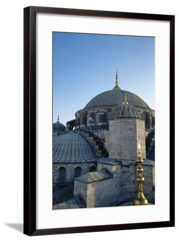 Turkey. Istanbul. Sultan Ahmed Mosque or Blue Mosque.1609-1616. Architect--Framed Art Print