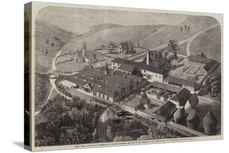 Model Farm Buildings and Workshops at Longleat, Wiltshire, the Seat of the Marquis of Bath--Stretched Canvas Print