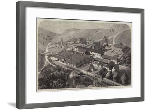 Model Farm Buildings and Workshops at Longleat, Wiltshire, the Seat of the Marquis of Bath--Framed Art Print