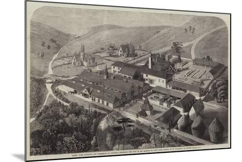 Model Farm Buildings and Workshops at Longleat, Wiltshire, the Seat of the Marquis of Bath--Mounted Giclee Print