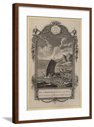 Various Boats, Barks, Etc Used in the Rivers and on the Coasts of Peru in South America--Framed Art Print