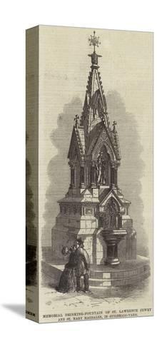Memorial Drinking-Fountain of St Lawrence Jewry and St Mary Magdalen, in Guildhall-Yard--Stretched Canvas Print