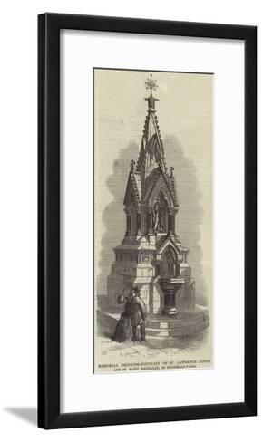 Memorial Drinking-Fountain of St Lawrence Jewry and St Mary Magdalen, in Guildhall-Yard--Framed Art Print