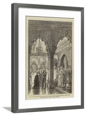 Ball in the Audience Hall at the Old Palace, Delhi, During the Prince of Wales' Visit--Framed Art Print