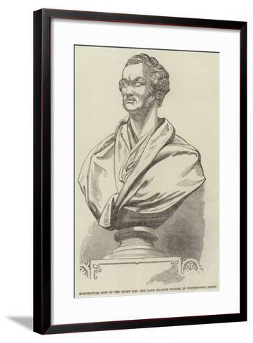 Monumental Bust of the Right Honourable the Late Charles Buller, in Westminster Abbey--Framed Art Print