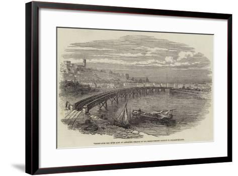 Viaduct over the River Lune at Lancaster, Branch of the North-Western Railway to Poulton-Le-Sands--Framed Art Print