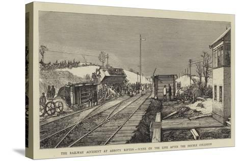 The Railway Accident at Abbot's Ripton, Scene on the Line after the Double Collision--Stretched Canvas Print