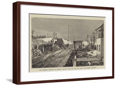 The Railway Accident at Abbot's Ripton, Scene on the Line after the Double Collision--Framed Art Print
