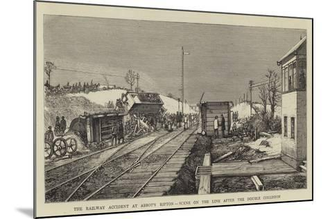 The Railway Accident at Abbot's Ripton, Scene on the Line after the Double Collision--Mounted Giclee Print