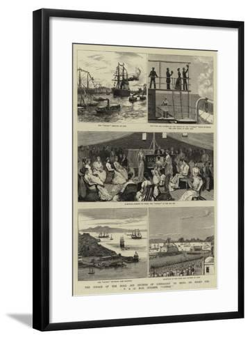 The Voyage of the Duke and Duchess of Connaught to India on Board the P and O Mail Steamer Cathay--Framed Art Print