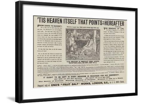 Plato Meditating on Immortality before Socrates, the Butterfly, Skull and Poppy, About 400Bc--Framed Art Print