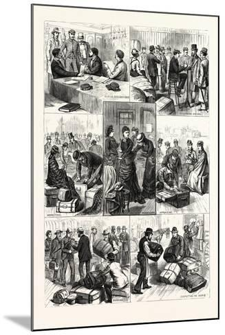 New York: the Terror of Ocean Travelers, a Day with a Custom House Inspector. U.S., 1880 1881--Mounted Giclee Print