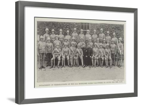Detachment of Telegraphists of the 24th Middlesex Rifle Volunteers En Route for the Cape--Framed Art Print