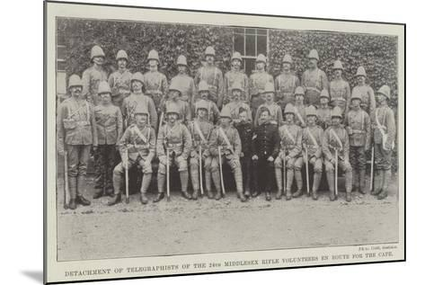 Detachment of Telegraphists of the 24th Middlesex Rifle Volunteers En Route for the Cape--Mounted Giclee Print