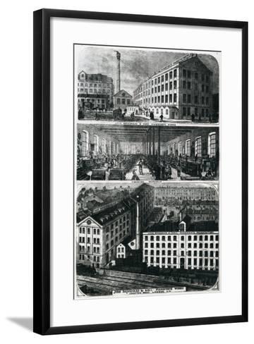 General View of John Brimsmead and Sons Pianoforte Works, Grafton Road, Kentish Town, London--Framed Art Print